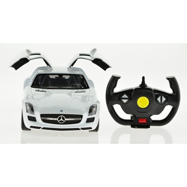 Rastar 1:14 White Mercedes-Benz SLS AMG 2.4 GHz Remote Control Car 19769368