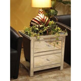 Heather Ann 2-drawer Mirrored Wood Cabinet