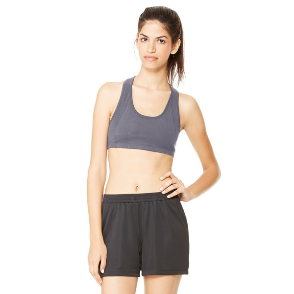 Dry-Wicking Women's Dark Grey Heathered Sports Bra
