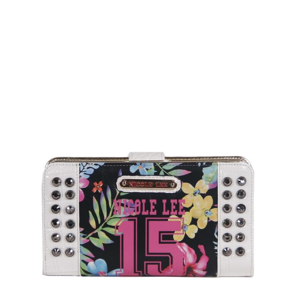 Nicole Lee 15 Print Studded Embellished Wallet