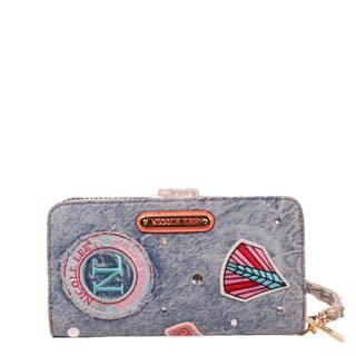 Nicole Lee Athena Multi-color Patch Print Bifold Wallet