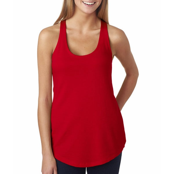 Next Level Women's Red The Terry Racerback Tank