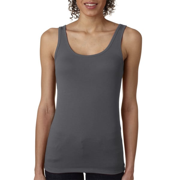 Next Level Women's The Jersey Dark Grey Tank