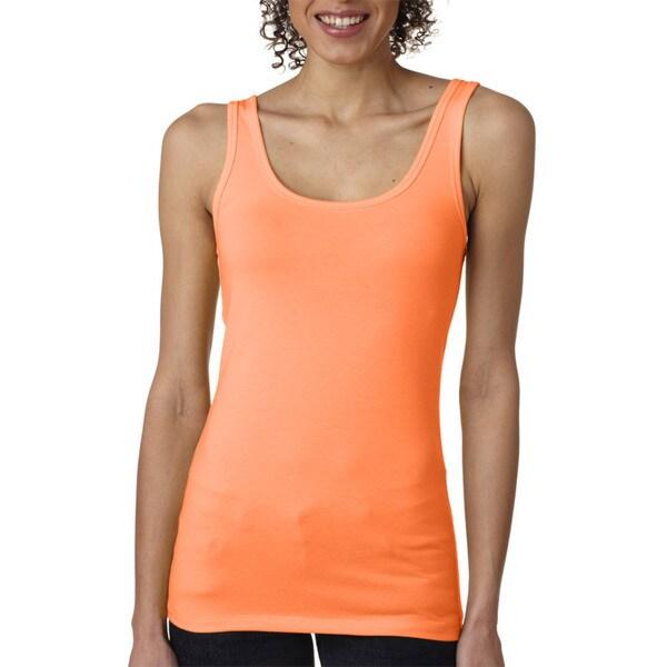 Next Level Women's The Jersey Neon Heather Orange Tank