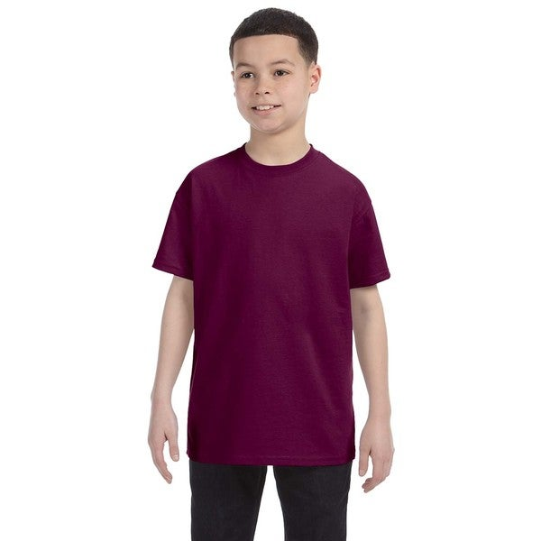 Gildan Boys' Maroon Cotton T-shirt
