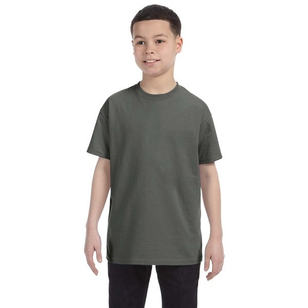Boys' Heavy Cotton Military Green T-shirt