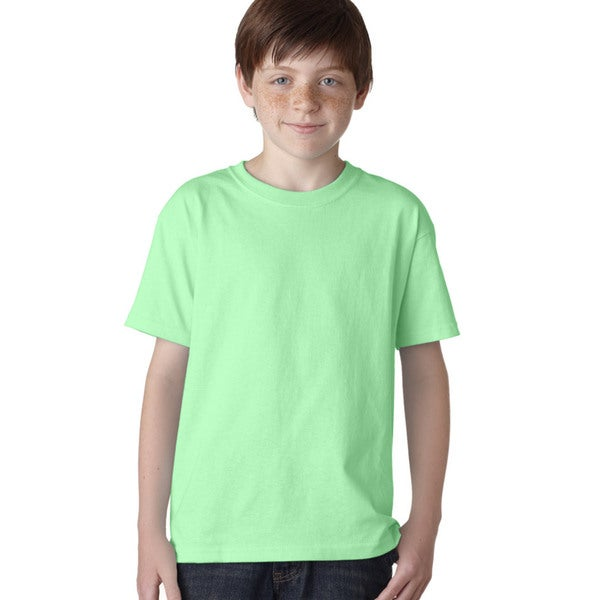 Gildan Boys' Mint Green Heavy Cotton T-shirt