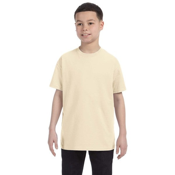 Boys' Natural Heavy Cotton T-shirt