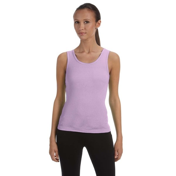 Stretch Rib Women's Lilac Tank