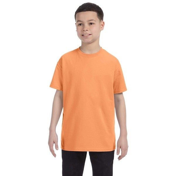 Boys' Old Gold Heavy Cotton T-shirt