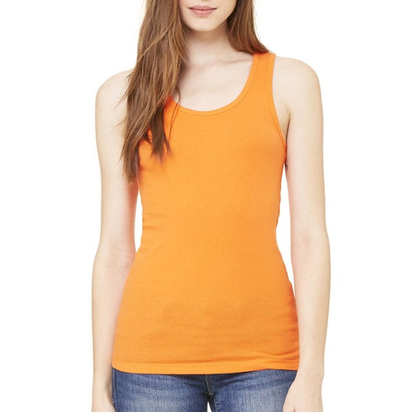 Stretch Rib Women's Orange Tank