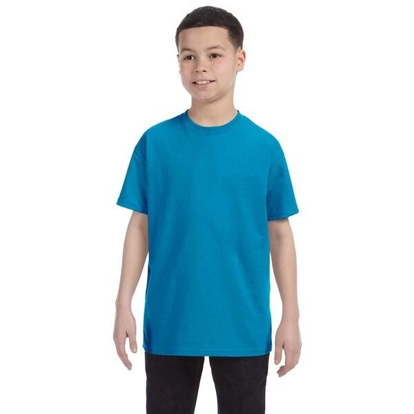 Boys' Heavy Cotton Sapphire T-shirt