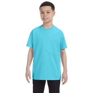Gildan Boys' Sky Blue Heavy Cotton T-shirt