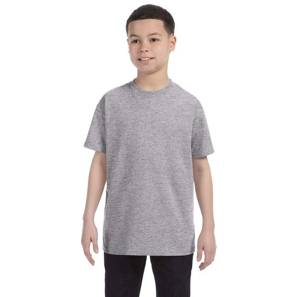 Boys Grey Cotton Sport T-shirt