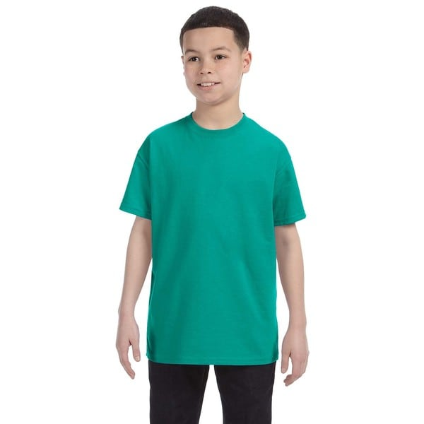 Boys' Tropical Blue Heavy Cotton T-shirt