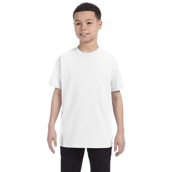 Gildan Boys' White Heavy Cotton T-shirt