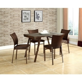 Brown Mesh Dining Chair