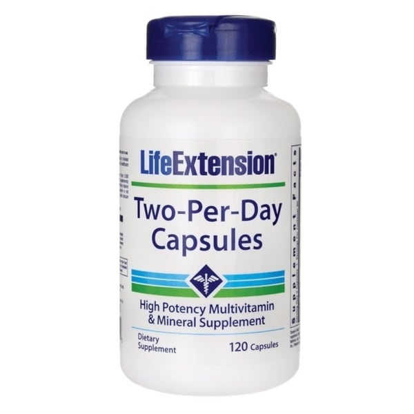 Life Extension Two-Per-Day Multivitamin Capsules