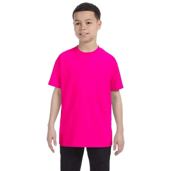 Boys Pink Heavy Cotton T-shirt