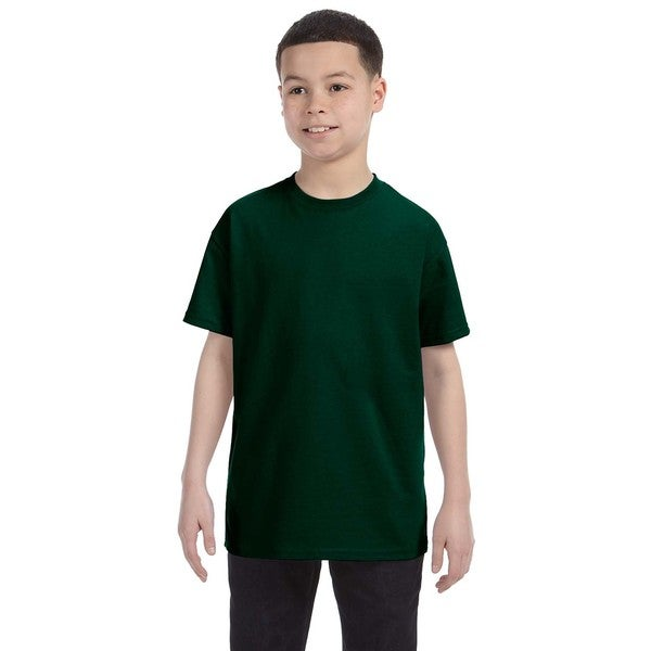 Heavy Cotton Boys' Forest Green T-shirt