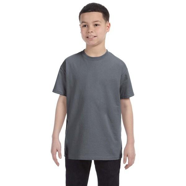 Boys' Charcoal Heavy Cotton T-shirt