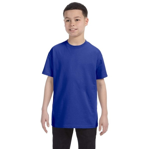 Boys' Cobalt Heavy Cotton T-shirt