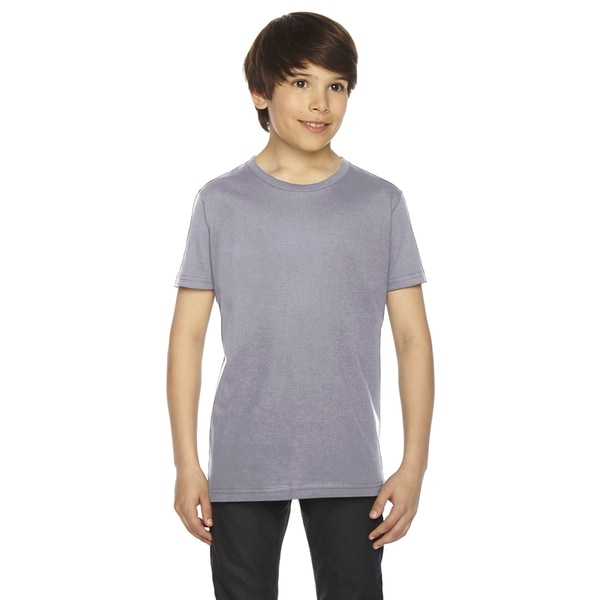 Fine Boys' Jersey Short-Sleeve Boys' Slate T-Shirt