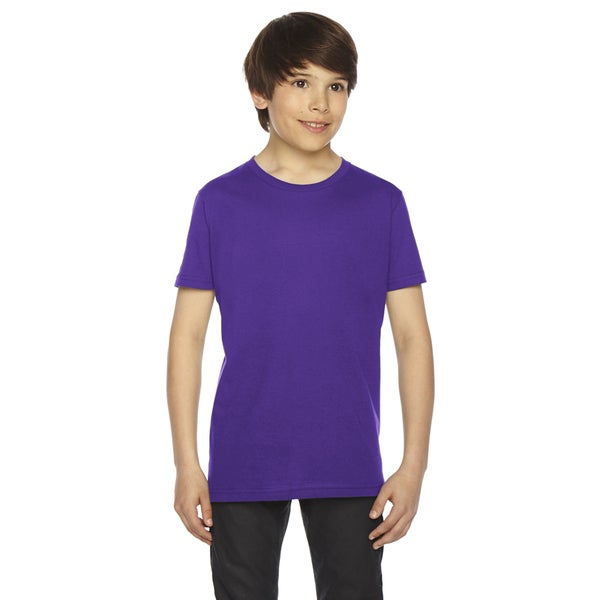 Fine Boys' Jersey Short-Sleeve Purple T-Shirt