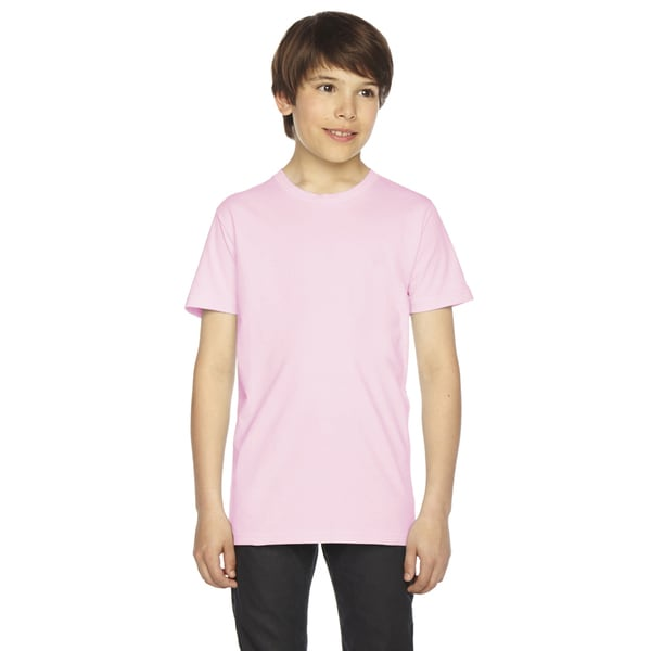 Fine Boys' Jersey Short-Sleeve Boys' Light Pink T-Shirt
