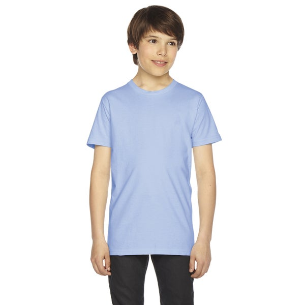 Fine Boys' Jersey Short-Sleeve Boys' Baby Blue T-Shirt