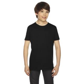 Fine Boys' Jersey Short-Sleeve Boys' Black T-Shirt
