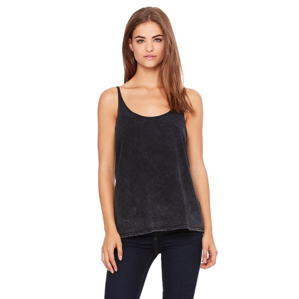 Slouchy Women's Black Mineral Wash Tank