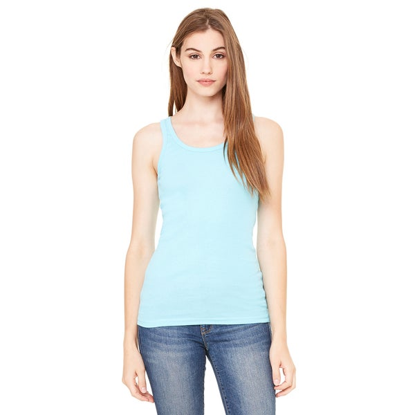 Sheer Women's Mini Rib Ocean Blue Tank