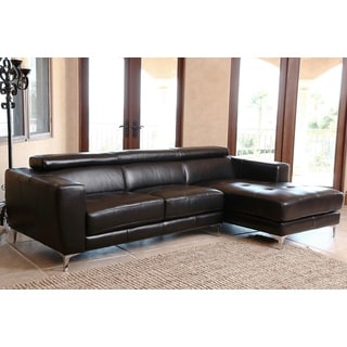 Monticello Top Grain Leather Functional Sectional