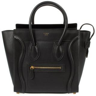 Celine Micro Luggage Smooth Black Calfskin Handbag