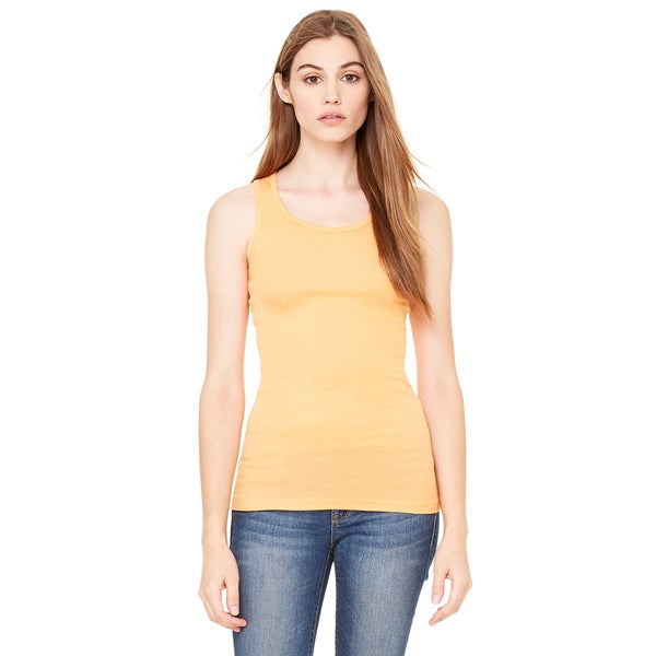 Sheer Women's Orange Sorbet Mini Rib Racerback Tank
