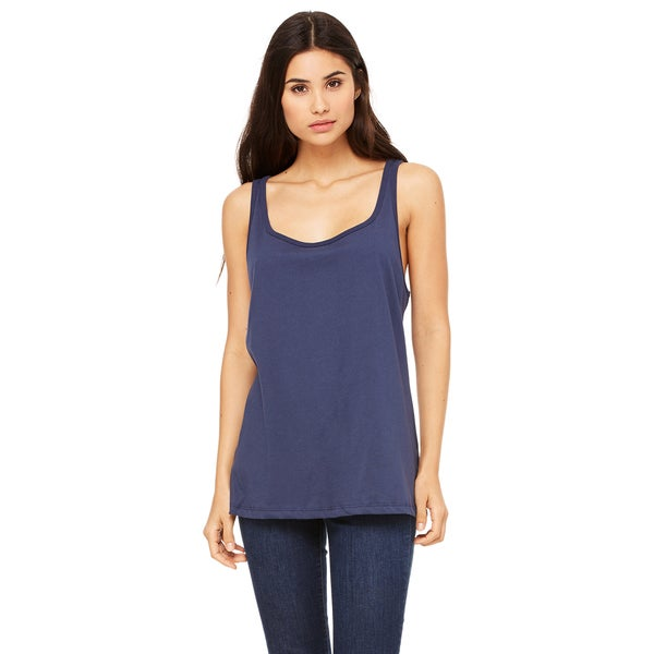Women's Relaxed Jersey Navy Tank