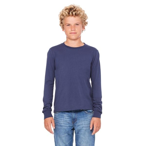 Jersey Boys' Long-Sleeve Navy T-Shirt