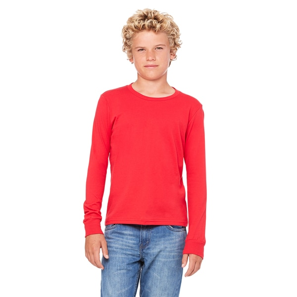Jersey Boys' Long-Sleeve Red T-Shirt