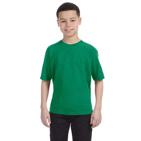 Lightweight Boys' Heather Green T-Shirt