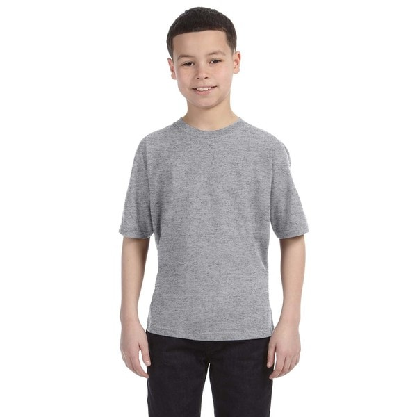 Lightweight Boys' Heather Grey T-Shirt