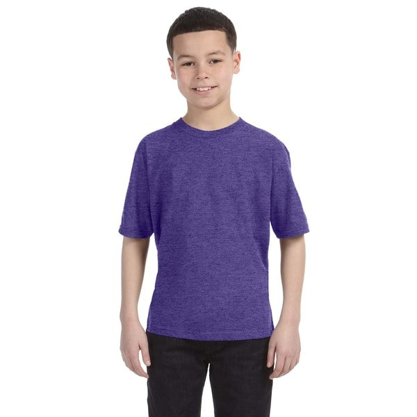 Lightweight Boys' Heather Purple T-Shirt