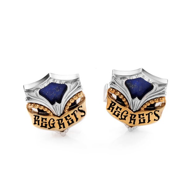 Stephen Webster No Regrets Silver Yellow Gold Plated Lapis Cufflinks