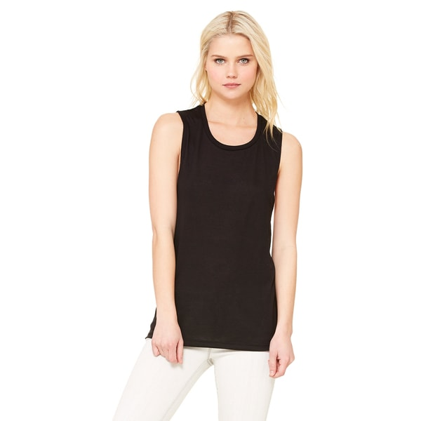 Flowy Women's Black Scoop Muscle Tank (Size M)