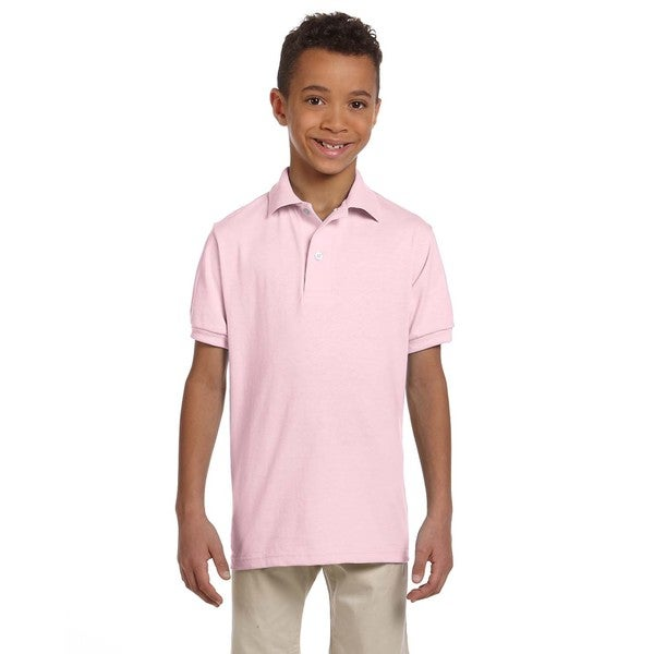 Spotshield Boys' Classic Pink Jersey Polo
