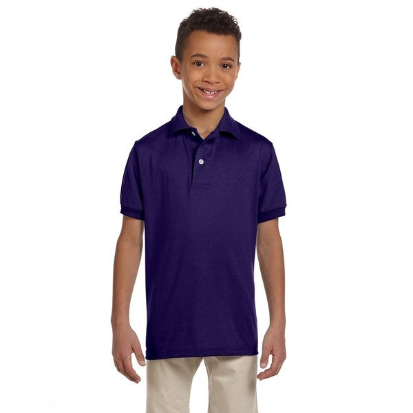 Spotshield Boys' Deep Purple Jersey Polo