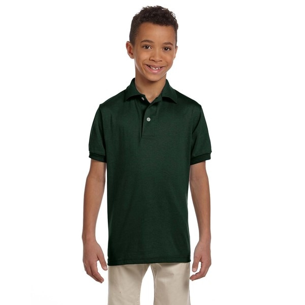 Spotshield Boys' Forest Green Jersey Polo