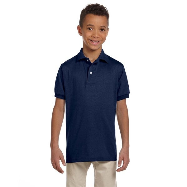 Spotshield Boys' J Navy Jersey Polo