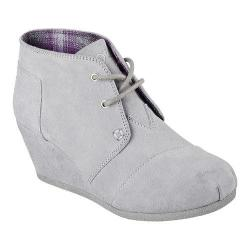 Women's Skechers BOBS High Notes Behold Wedge Ankle Boot Gray