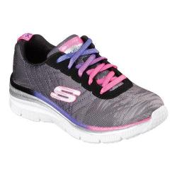 Girls' Skechers Fun Fit Sneaker Black/Purple/Pink
